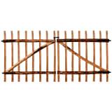 vidaXL Dvigubi tvoros vartai, impregnuota lazdyno mediena, 300x150cm