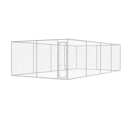 vidaXL Outdoor Dog Kennel Galvanized Steel 25'x13'x6.6'[1/4]