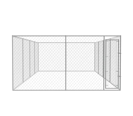 vidaXL Outdoor Dog Kennel Galvanized Steel 25'x13'x6.6'[2/4]