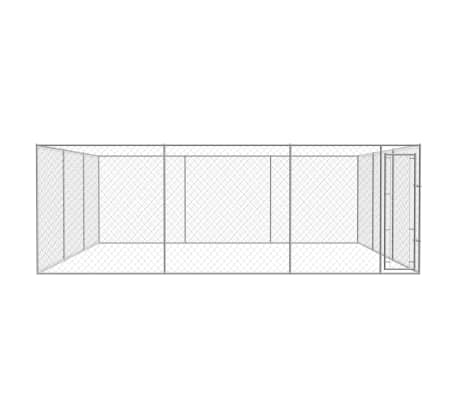 vidaXL Outdoor Dog Kennel Galvanized Steel 19'x19'x6.6'[2/4]