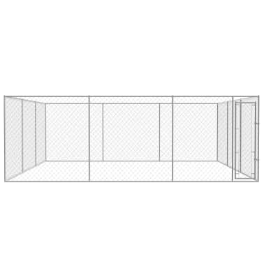 vidaXL Outdoor Dog Kennel Galvanized Steel 19