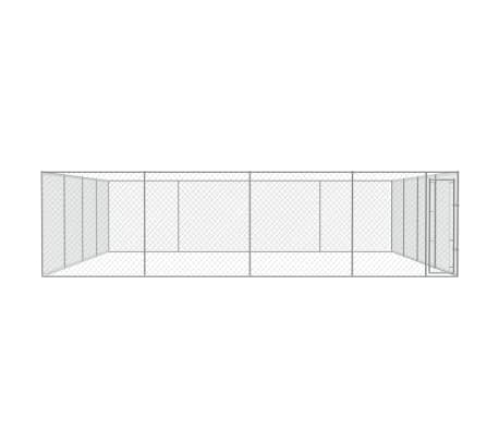 vidaXL Outdoor Dog Kennel Galvanized Steel 25'x25'[2/4]