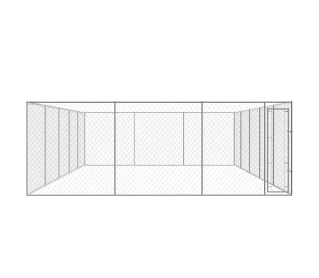 vidaXL Outdoor Dog Kennel Galvanized Steel 32'x19'[2/4]