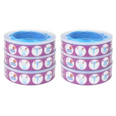 vidaXL Cassettes de recharge pour Angelcare Diaper Genie 6 pcs[1/6]