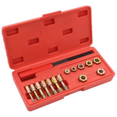 vidaXL Kit de repasador de roscas métrico 15 piezas[1/5]