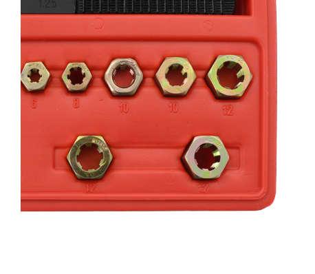 vidaXL Kit de repasador de roscas métrico 15 piezas[4/5]
