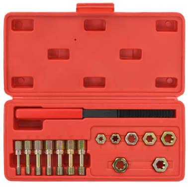 vidaXL Kit de repasador de roscas métrico 15 piezas[2/5]
