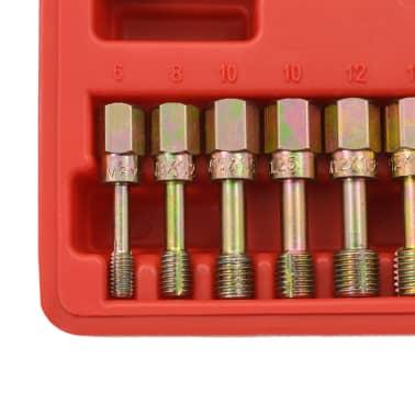 vidaXL Kit de repasador de roscas métrico 15 piezas[3/5]