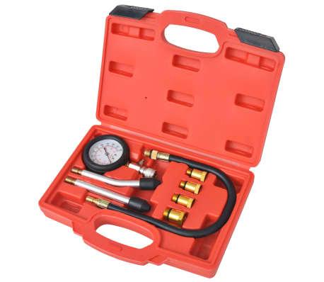 vidaXL Kit de test de compression de moteur à essence 8 pcs