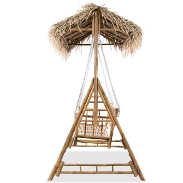 vidaXL Gugalnica za 2 osebi iz bambusa s palmovimi listi 202 cm[3/6]