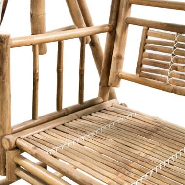 vidaXL Gugalnica za 2 osebi iz bambusa s palmovimi listi 202 cm[4/6]