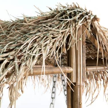 vidaXL Gugalnica za 2 osebi iz bambusa s palmovimi listi 202 cm[5/6]