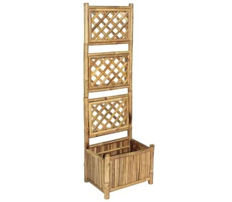acheter vidaxl jardini re avec treillis bambou 40 cm pas cher. Black Bedroom Furniture Sets. Home Design Ideas