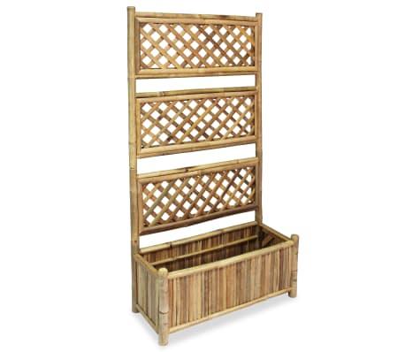 vidaXL Odlingslåda med spaljé bambu 70 cm