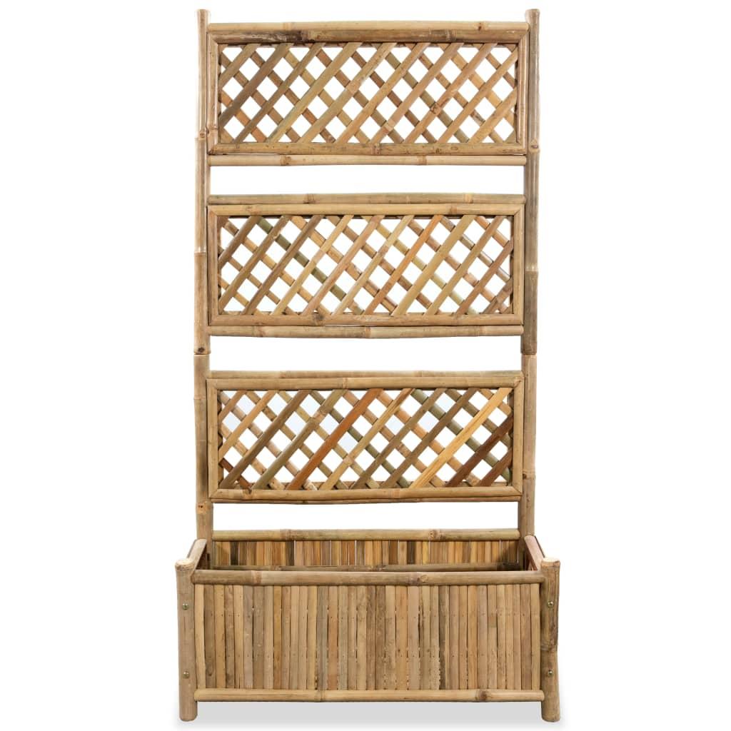 9943714 Garten-Blumentopf mit Spalier Bambus 70 cm