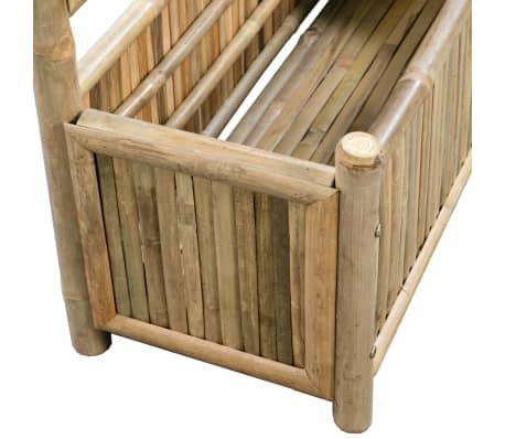 acheter vidaxl jardini re avec treillis bambou 70 cm pas cher. Black Bedroom Furniture Sets. Home Design Ideas