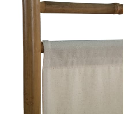 "vidaXL Folding 4-Panel Room Divider Bamboo and Canvas 63""[6/6]"