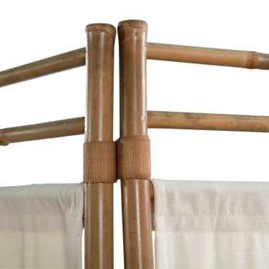 "vidaXL Folding 5-Panel Room Divider Bamboo and Canvas 78.7""[4/5]"