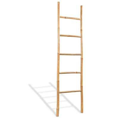 "vidaXL Towel Ladder with 5 Rungs Bamboo 59""[1/4]"