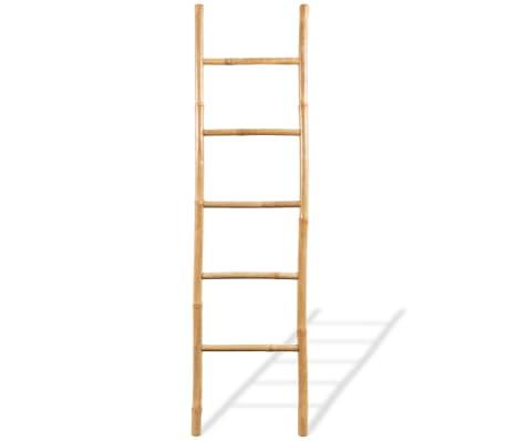 "vidaXL Towel Ladder with 5 Rungs Bamboo 59""[2/4]"