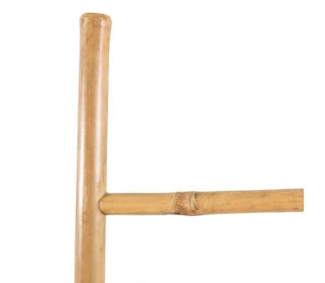 vidaXL Échelle à serviettes 5 échelons Bambou 150 cm[3/4]