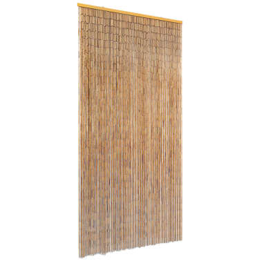 "vidaXL Insect Door Curtain Bamboo 35.4""x86.6""[1/4]"