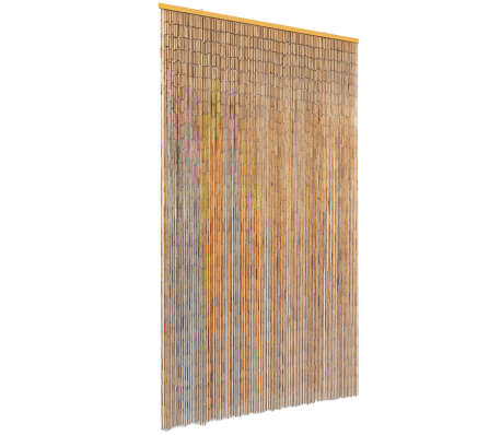 "vidaXL Insect Door Curtain Bamboo 47.2""x86.6""[1/4]"