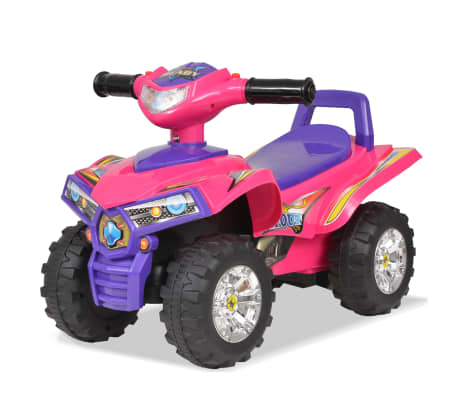 vidaXL Cavalcabile ATV per Bambini Rosa e Viola con Suoni e Luci[1/7]