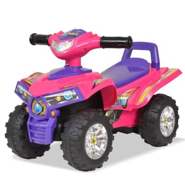vidaXL el-ATV til børn med lyd og lys lyserød og lilla[1/7]