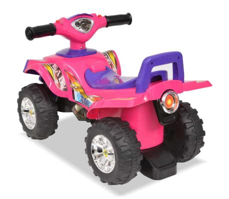 vidaXL el-ATV til børn med lyd og lys lyserød og lilla[2/7]
