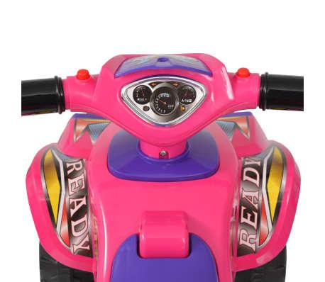vidaXL el-ATV til børn med lyd og lys lyserød og lilla[4/7]