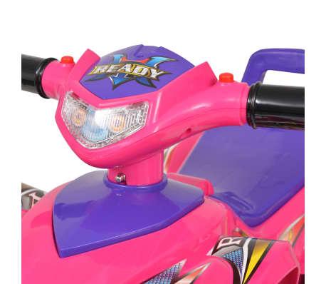 vidaXL Cavalcabile ATV per Bambini Rosa e Viola con Suoni e Luci[5/7]
