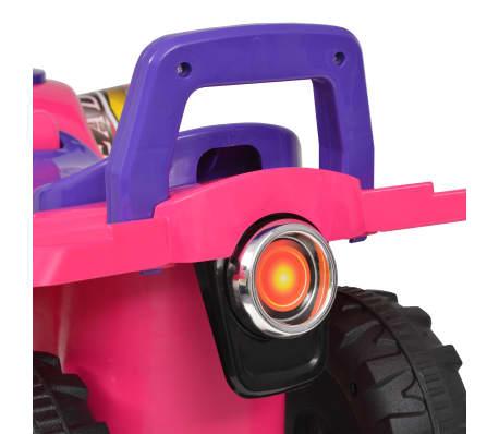 vidaXL el-ATV til børn med lyd og lys lyserød og lilla[6/7]