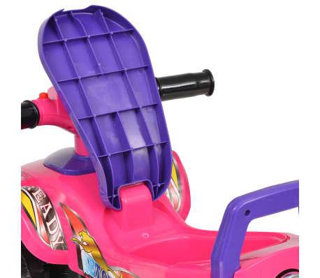 vidaXL el-ATV til børn med lyd og lys lyserød og lilla[7/7]