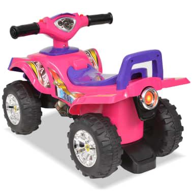 vidaXL Cavalcabile ATV per Bambini Rosa e Viola con Suoni e Luci[2/7]