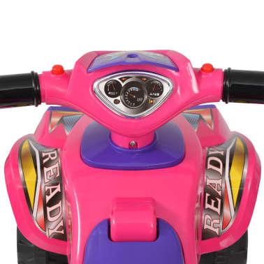 vidaXL Cavalcabile ATV per Bambini Rosa e Viola con Suoni e Luci[4/7]