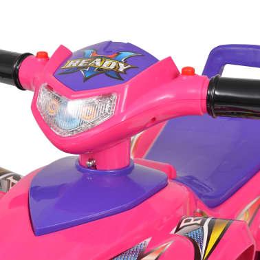 vidaXL el-ATV til børn med lyd og lys lyserød og lilla[5/7]