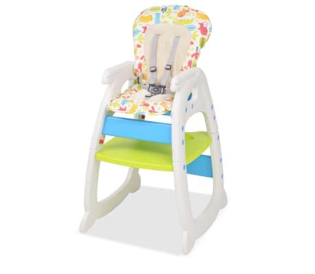 vidaXL Trys viename sulankstoma vaikiška kėdutė, mėlyna ir žalia[2/8]