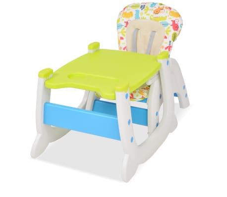 vidaXL Trys viename sulankstoma vaikiška kėdutė, mėlyna ir žalia[3/8]