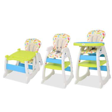 vidaXL Trys viename sulankstoma vaikiška kėdutė, mėlyna ir žalia[4/8]