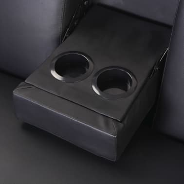 Fine Vidaxl Sofa Bed With Drawers And Ottoman Black Artificial Pabps2019 Chair Design Images Pabps2019Com