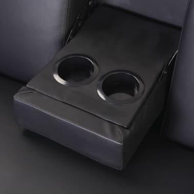 Magnificent Vidaxl Sofa Bed With Drawers And Ottoman Black Artificial Inzonedesignstudio Interior Chair Design Inzonedesignstudiocom