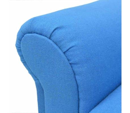 vidaXL Convertible Sofa Bed Fabric Blue[7/7]