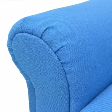 vidaXL Convertible Sofa Bed Fabric Blue[7/7]