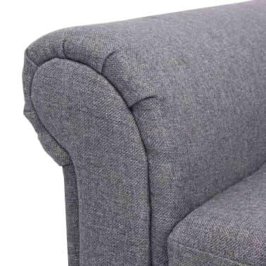 vidaXL Convertible Sofa Bed Fabric Gray[7/7]