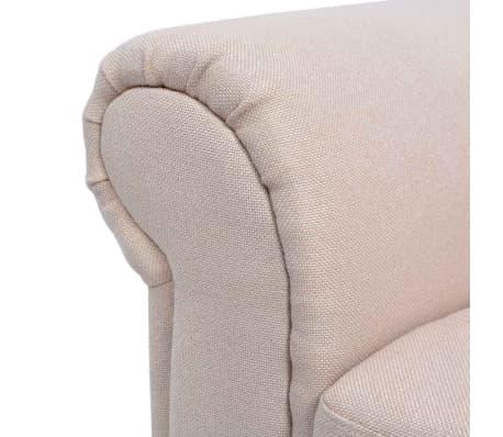 vidaXL Convertible Sofa Bed Fabric Cream[7/7]
