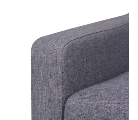 vidaXL Dvivietė sofa, audinys, pilka[5/7]