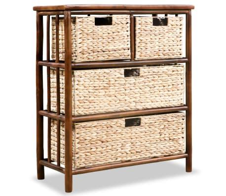 Vidaxl Kommode Bambus Und Wasserhyazinthe 68 X 33 X 80 Cm Gunstig