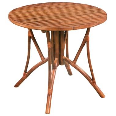 f2fb63a28 Shop vidaXL Spisebord bambus 85x75 cm brun rund | vidaXL.no