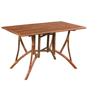 Køb vidaXL Spisebord bambus 115x70x75 cm brun rektangulær
